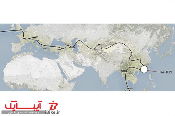 دور دنیا با دوچرخه